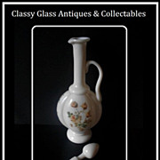 SALE HALF PRICE. Majestic 15 inch Antique French Opaline Glass Decanter & Stopper.