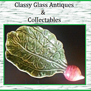 SALE HALF PRICE. Marvellous Majolica Pottery Large Radish Turnip Pattern Dish by Pinheiro, Olf