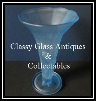 1930s Bohemian Art Deco Satin Frosted Blue Glass Figural Lady Vase