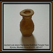 Unsurpassed Ancient Bhutanese Archaeological Antiquity Yak Sinew Vase.  AD 629 - AD 657