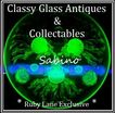 Sublime Sabino 10.5 inch Uranium Green Glass Sea Urchins 'Oursins et des conques' Bowl