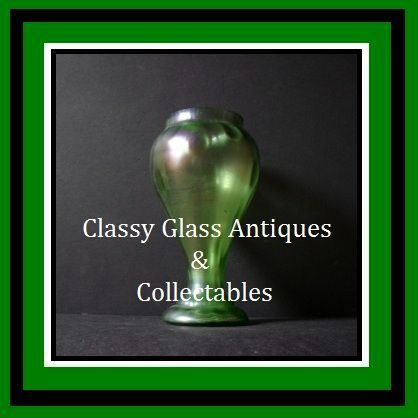 OFFERS INVITED> Bohemian Art Nouveau Iridescent & Uranium Glass Vase by Kralik