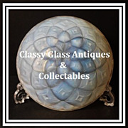 SALE PENDING 1930s Art Deco Choisy � Le � Roi Geometric Dahlia Opalescent Glass bowl by Hunebe