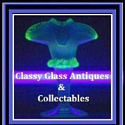 Thomas Webb, Opalescent & Uranium  Glass Vase. England pre-1910.
