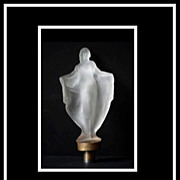 1930s Art Deco Isadora Duncan Glass Figurine Mascot