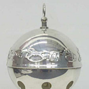 Wallace Silver Bell Ornament-  1974