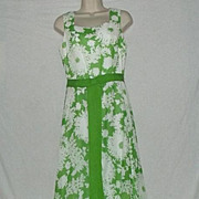 Green and White Miss Elliette Maxi Dress- Size 12