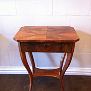 Biedermeier Side Table, Walnut
