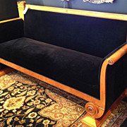 REDUCED German Biedermeier Sofa, 19th C
