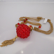 Vintage Massive Rare Fabulous Lucite Ball Necklace