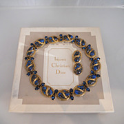 Vintage Amazing Christian Dior 1964 Rhinestone Set In Original Box