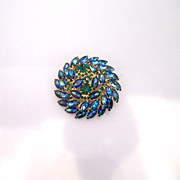 Vintage Juliana Massive Rhinestone Dome Brooch/Pin