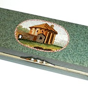 Snuff-box with micromosaic of The Temple of Vesta