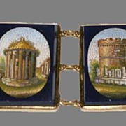 Bracelet with micromosaic views of Rome