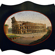 Micromosaic paperweight with the Colosseum
