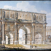 The Arch of Constantine and The Pantheon in Rome