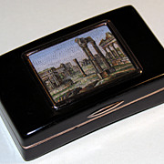 Snuff box with micromosaic of the Roman Forum