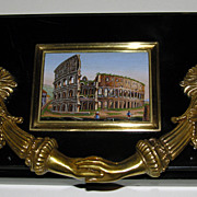 Exceptional paperweight with micromosaic of the Colosseum