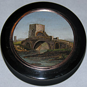 Snuff box with micromosaic of the Ponte Nomentano