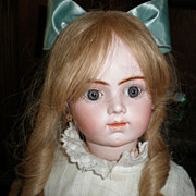 "SOLD Antique 25"" Closed Mouth Bru J ne R Head size 11 Head"