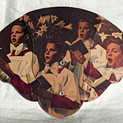 "Cardboard Advertising Fan ""Youthful Choristers"""