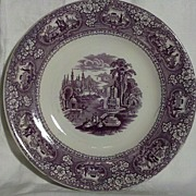 Cotton & Barlow Purple Transfer Ware Medina Plate