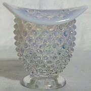 Fenton French Opalescent Hobnail Miniature Vase