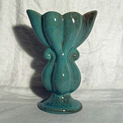 "Gonder Pottery E-6 7 "" Green Vase in Perfect Condition"