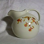 SALE Hall Jewel Tea Autumn Leaf 4 Pint Ball Jug/Pitcher