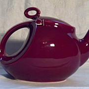 Hall Maroon Teapot in Excellent Condition