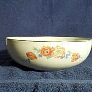"Hall Orange Poppy 9"" Vegetable Bowl"