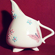 Hull 3 Footed Pitcher with Butterflies