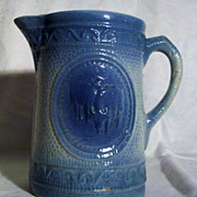 SALE Hull Grazing Cows Blue and White 8 inch Pitcher