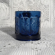 Imperial Glass Cobalt Blue Story Book Mug with Original Labels