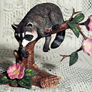 Lenox Woodland Animals 1990 Twilight Mischief Raccoon