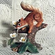 SALE Lenox Woodland Animals 1989 Springtime Scamper Red Squirrel
