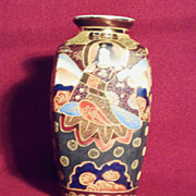 "SALE Moriage 8"" Square Vase Japan Early 20th Century"