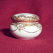 Nippon Noritake RC Trinket Box with Gilding and Flowers