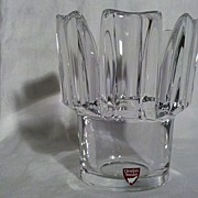 Orrefors Clear Crystal Vase in Perfect Condition