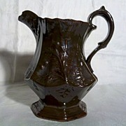 SALE 19th Century Redware Pitcher in Very Good Condition