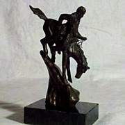 Remington Replica Bronze Sculpture &quot;Mountain Man&quot; 5 1/2 inches