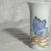 SALE Rosenthal Blue Pigeon Butterfly Vase in Perfect Condition