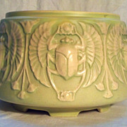 Roseville 9 inch Scarab Jardiniere in Excellent Condition