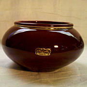 Royal Haeger 6 Inch Maroon Flower Bowl