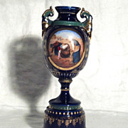 "SALE Royal Vienna 8"" Handpainted Bolted Portrait Vase"