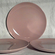 Iroquois Russel Wright Casual Pink Sherbet Dinner Plates (3)