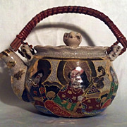 Satsuma Teapot with Crackle Glaze