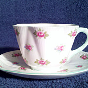 Shelley Fine Bone China Rosebud Cup & Saucer Perfect Condition