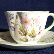 SALE Shelley Fine Bone China Wild Anemone Cup & Saucer