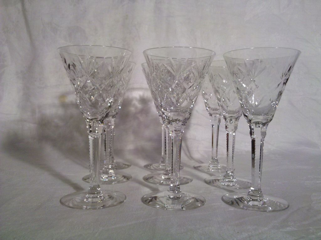 Sherry Glasses Set of 9 in Perfect Condition